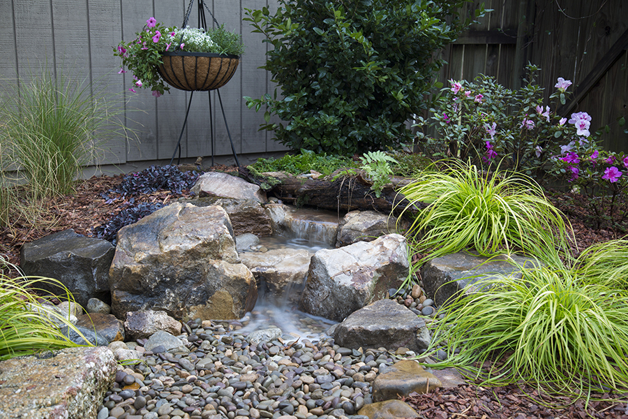 Backyard waterfall landscape fountain kit moore water for Garden pond and waterfall kits